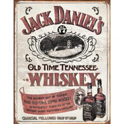 Jack Daniels Sippin Whiskey Metal Tin Sign