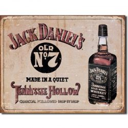 Jack Daniels Tennessee Hollow Metal Tin Sign