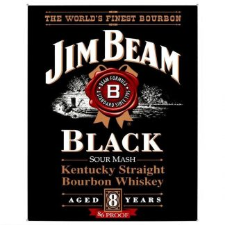 Jim Beam Black Label Metal Tin Sign