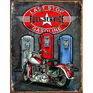 Legends Last Stop Metal Tin Sign