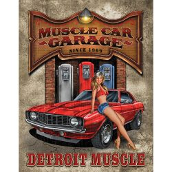 Legends Muscle Car Garage Metal Tin Sign