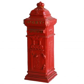 Cast Iron Red Tallboy Letterbox