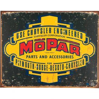 Mopar Logo 37-47 Metal Tin Sign