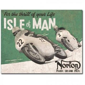 Norton Isle of Man Metal Tin Sign