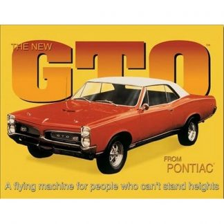 Pontiac GTO Metal Tin Sign