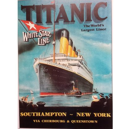 Titanic White Star Metal Tin Sign