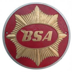 BSA Bikes Cast Iron Round Sign