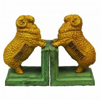 Golden Fleece Cast Iron Bookends