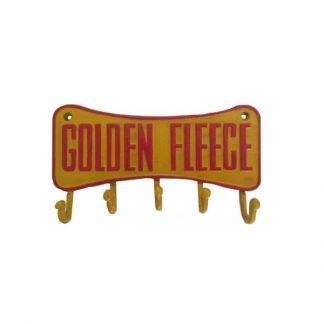 Golden Fleece Cast Iron Key Rack