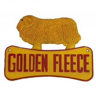 Golden Fleece Ram Cast Iron Sign