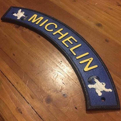 Michelin Tyre Man Curved Cast Iron Sign