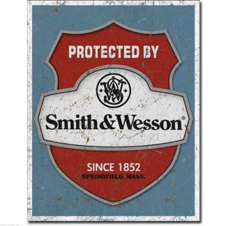 Protected By Smith & Wesson Metal Tin Sign