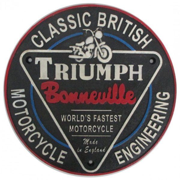 Triumph Cast Iron Round Sign