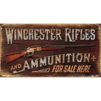 Winchester Rifles and Ammunition Tin Sign