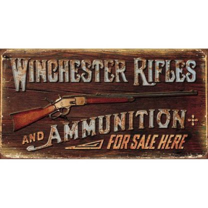 Winchester Rifles and Ammunition Metal Tin Sign