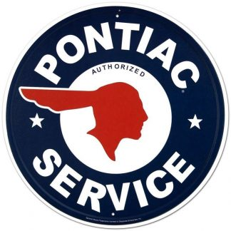 Pontiac Service Metal Tin Sign