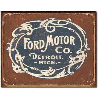 Ford Motor Historic Logo Metal Tin Sign
