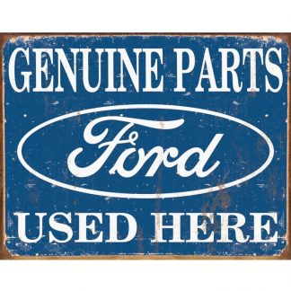 Genuine Ford Parts Metal Tin Sign
