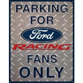 Ford Racing Parking Metal Tin Sign