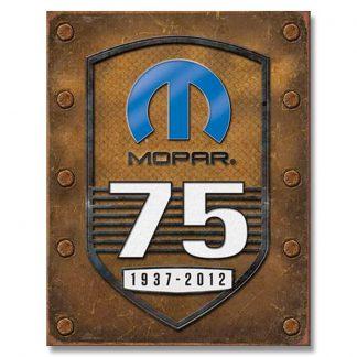 Mopar 75th Anniversary Metal Tin Sign