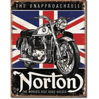 Norton Best Road Holder Metal Tin Sign