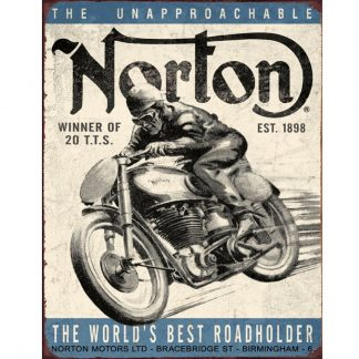 Norton Winner Metal Tin Sign