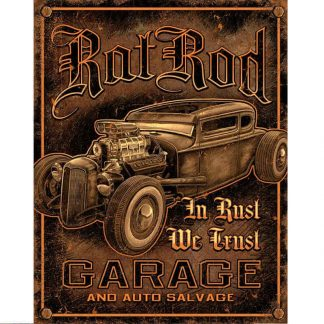Rat Rod Garage Metal Tin Sign