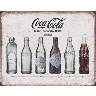 Coke Evolution Set Metal Tin Sign