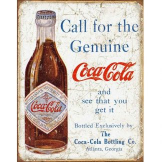 Coke Call for the Geniune Metal Tin Sign