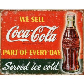 Coke Part of Every Day Metal Tin Sign