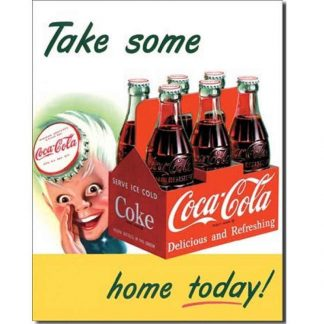 Coke Sprite Boy Take Home Metal Tin Sign