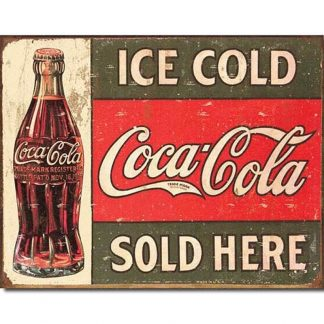Coke c.1916 Ice Cold Metal Tin Sign