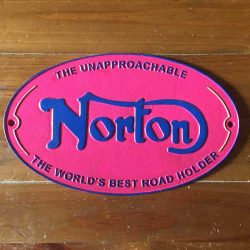 Norton Motorcycle Bike Cast Iron Sign