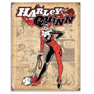Batman Harley Quinn Retro Metal Tin Sign