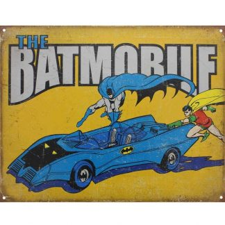 Batman The Batmobile Metal Tin Sign