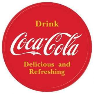 Coke Round Button Sign