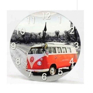 Red VW Combi Clock