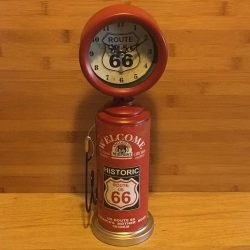 Route 66 Petrol Bowser Clock