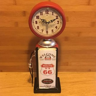 Route 66 Petrol Bowser Clock 36cm