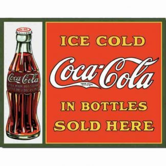 Coke Sold in Bottles Metal Tin Sign