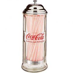 Coca Cola Coke Glass Straw Dispenser Kidscollections