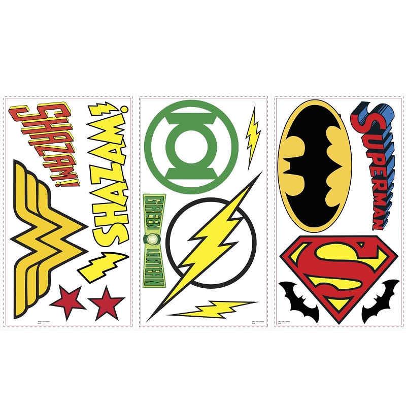marvel avengers dc superhero logos wall stickers kidscollections