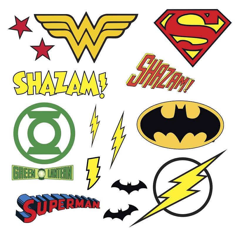 Superhero logos wall stickers