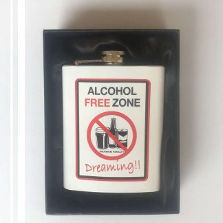 Alcohol Free Zone Hip Flask