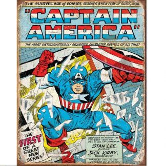 Captain America Comic Cover Metal Tin Sign