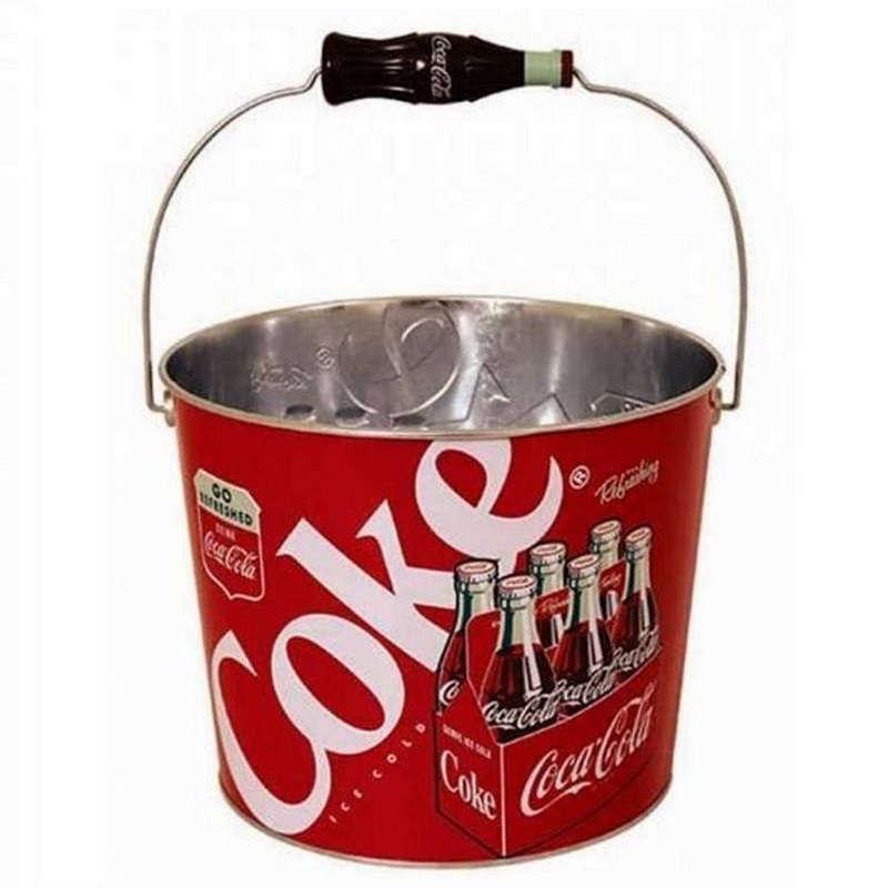 coca cola coke tin beverage bucket kidscollections. Black Bedroom Furniture Sets. Home Design Ideas
