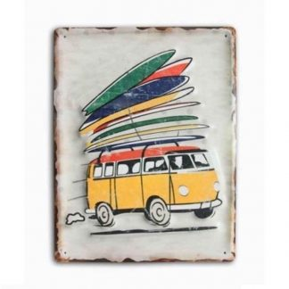 Combi Van Sign Surf Board