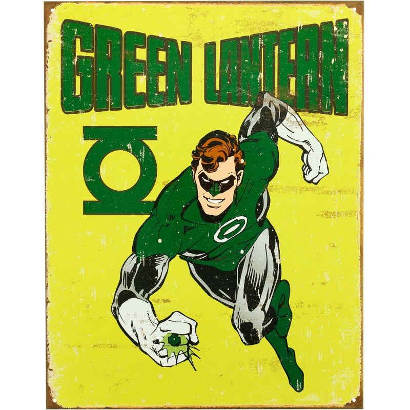 Green Lantern Retro Metal Tin Sign Kidscollections