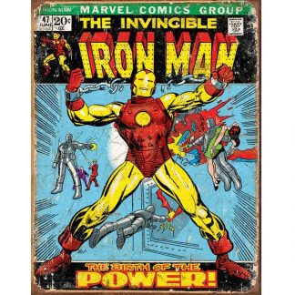 Iron Man Comic Cover Metal Tin Sign