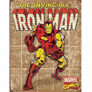 Iron Man Retro Panels Metal Tin Sign